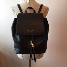 """Kate spade wilder Brand new! Bought and never used. A very roomy backpack made from a soft pebbled leather with 14-karat gold plated hardware. Has a flap with an inside magnetic snap closure. Has an updated Kate Spade tassel drawstring pull. Inside a logo design woven lining. Has one large internal zip pocket, two small internal slip pockets. Measures at approx 11.5"""" (H) x 10.5"""" (L) x 5"""" (D) kate spade Bags Backpacks"""