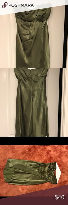 Two matching Alfred Angelo dress Two of the same Alfred Angelo green dresses.   Perfect for small wedding party.   One dress is a 6 and the other is an 8. Alfred Angelo Dresses Prom