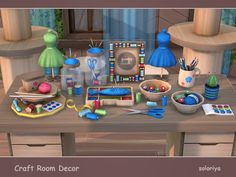 Sims 4 CC's - The Best: Craft Room Decor by Soloriya