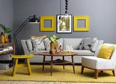 light grey couch and blue-gray walls - Google Search