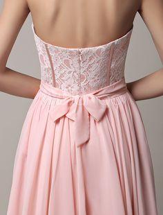 2016 curto rosa Chiffon Strapless vestido dama de honra com faixa