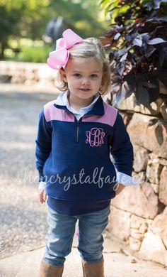 Children's Fashion: Adorably Preppy Little Girl's Monogrammed Sweatshirt/Pullover Preppy Little Girl, Preppy Kids, Little Girl Fashion, Toddler Fashion, Little Girls, Kids Fashion, Monogram Sweatshirt, Cute Kids, Baby Kids
