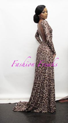 Loving & needing this Long Leopard Gert Johan Coetzee piece for New year! SA Bonang Matheba rock IT! he is going to design my wedding dress Style And Grace, My Style, My Black Is Beautiful, Queen B, Runway Fashion, Fashion Trends, Celebs, Celebrities, Black Beauty