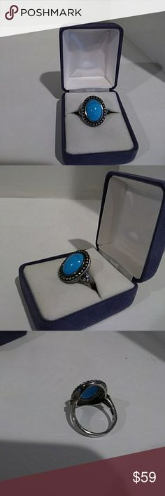 42f8541957 Sterling Sliver Turqouise ring A beautifully detailed, sterling silver  turquoise ring! I do not