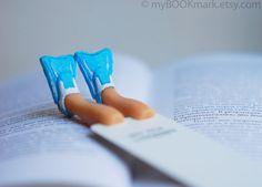 Flippers bookmark Legs in blue summer flippers Aqua by MyBookmark, $25.00