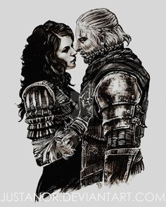 TWH - Yennefer and Geralt by JustAnoR on DeviantArt