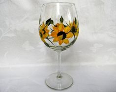 Items similar to Hand Painted Large Wine Glasses - Colorful Roses in Red Peach Yellow, Set of 4 - Stemware Red Wine Glass Gardener Hostess Fall Wedding Gift on Etsy
