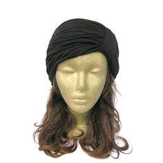 Black Turban Headband Turband Turban Hat Turban by curtainroad