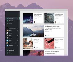 RSS Reader UI Design | Dashboard User Interface Design