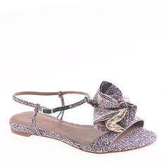 flirty floral sandals