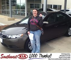 #HappyAnniversary to Brooke Benton on your new car from Jerry Tonubbee at Southwest Kia Mesquite!