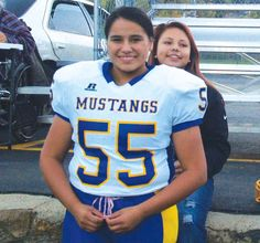 Terre Dawn Vocu, a 15-year-old junior at Little Wound High School on the Pine Ridge Reservation is one of the few girls playing high school football in South Dakota.