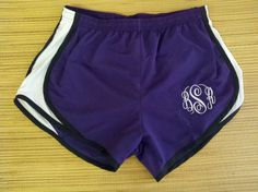 Monogrammed Running Shorts by CarolsCreationsLA on Etsy, $20.00