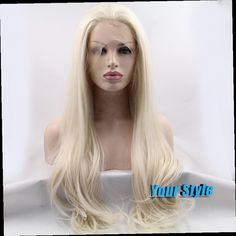 43.67$  Buy now - http://ali7u3.worldwells.pw/go.php?t=32379055535 - Cheap Synthetic Lace Front Wig for White Women Long Body Wave Wavy White Natural Hair Wigs Perruca Longa Sintetica Cosplay 43.67$