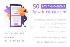 50 SVG animations for UI design by Visual Generation on @creativemarket Page Design, Ui Design, Vector Animation, 4th Of July Games, Library Website, App Marketing, Media Web, After Effects Projects, Ui Web