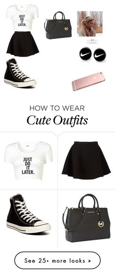 """""""tegans outfit"""" by carmenadame on Polyvore featuring мода, Neil Barrett, Converse, Michael Kors и NIKE"""