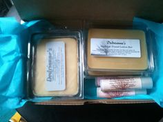 Solid Perfume Travel Lotion Bars & Chapstick Kit: Smooth Skin Light Scent!