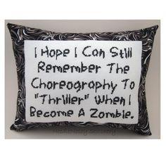 """Spero di ricordarmi ancora la coreografia di """"Thriller"""" quando sarò diventato uno zombie. :)"""
