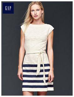 Tie stripe dress
