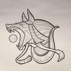 Anubis Tattoo Design by chrisinktattoo