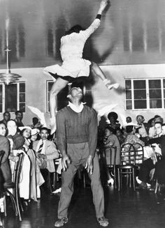 Frankie Manning and Ann Johnson (members of Whitey's Lindy Hoppers) performing the Lindy Hop in Hellzapoppin', 1941  Image courtesy of The Arizona Lindy Hop Society  oh thank you, captions.