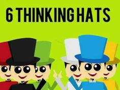 Six Thinking Hats, Thinking Skills, Critical Thinking, Gifted Education, Character Education, Learning Activities, Teaching Resources, Habits Of Mind, Program Management