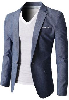 H2H Mens Fashion Linen Blazer Jackets of Various Colors Single Button #H2H #HAVE2HAVE