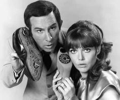Get Smart - Don Adams as Agent 86 and Barbara Feldon as Agent 99. The show was created by Mel Brooks and Buck Henry and ran from 1965-1970.