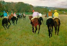Racehorses at Longchamp 1871, possibly reworked in 1874 Edgar Degas, French, 1834–1917 - MFA, Boston by renzodionigi, via Flickr