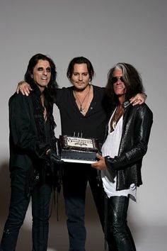 Alice Cooper, Johnny Depp and Joe Perry - the Hollywood Vampires. (Photo by Ross Halfin)
