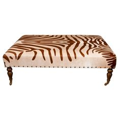 1stdibs cowhide ottoman coffee table explore items from global dealers at 1stdibscom