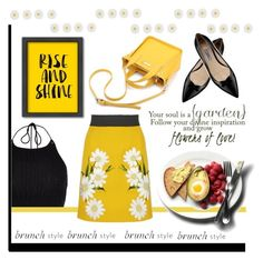 Brunch Style: Rise & Shine! by jazzyk61 on Polyvore featuring polyvore, fashion, style, River Island, Dolce&Gabbana, Prada, Monsoon, Americanflat, clothing and brunch