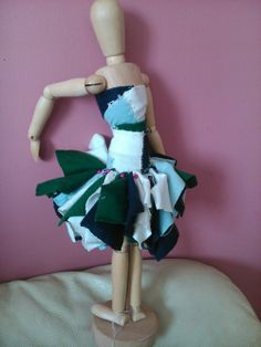 prototype of a dress made from recycled t-shirts