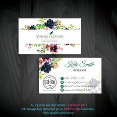 Young Living Business Cards, Personalized Young Living Cards, YL16– ToboArt