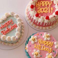 Pretty Birthday Cakes, Pretty Cakes, Korean Cake, Pastel Cakes, Coffee Dessert, Cake Business, Cute Desserts, Just Cakes, Love Cake
