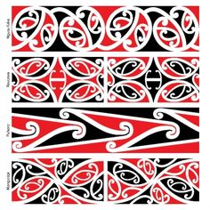 Use kowhaiwhai patterns to make Maori culture visible in your centre Maori Designs, Tatoo Designs, Tattoos Pulseras, Waitangi Day, Maori Symbols, Maori Patterns, Zealand Tattoo, Polynesian Art, Polynesian Tattoos