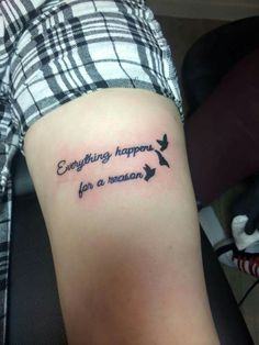 """""""Everything happens for a reason"""" thy tattoo"""