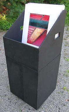 16x20 Display Bin...great idea with photo plans