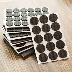 48pcs Protecteurs de sol auto-adh/ésifs antid/érapants noirs Patins antid/érapants pour meubles Forme : Round, Style : 30Pcs patins en caoutchouc