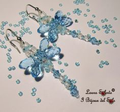 10th Birthday Jewellery Design Competition: My design : Aqua Dragonfly earrings by Laura Solerte - copyright 2014