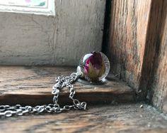 Sieraden, de Gift van de verjaardag, hars sieraden, bruids partij geschenk, bloem sieraden, natuur sieraden, handgemaakte sieraden, cadeau voor haar, ketting van de natuur