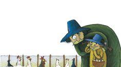 Ilustración de Claudia Ranucci para el cuento  Una familia de ogros, escrito por Lola Núñez y Rocío Antón.  Edelvives incluye este cuento en la colección Malos de cuento para primeros lectores.