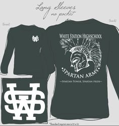 White Station High School School Shirt #custom #design #shirt