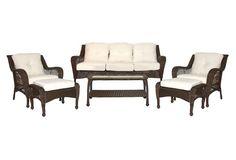 Rita 6-Pc Seating Set, Tan