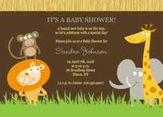 invitations wedding online event invitation template easily customize this safari animals boy baby shower invite design using the online editor all of