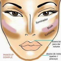 Make up contour Make Up Tutorial Contouring, Contouring And Highlighting, Contour Eyes, Beauty Make-up, Beauty Hacks, Beauty Tips, Love Makeup, Makeup Looks, Makeup Shop