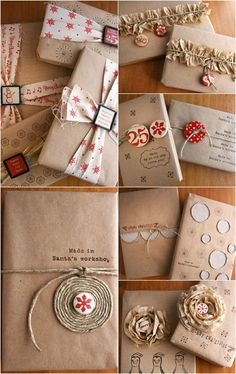 Christmas Inspiration 8 Techniques for Gift Wrapping with Kraft