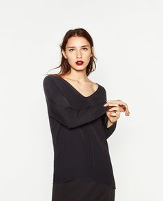 LONG V-NECK TOP-View all-TOPS-WOMAN | ZARA United States