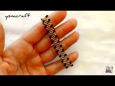 HERRİNGBONE YENİ MODEL BİLEKLİK YAPIMI - YouTube Beaded Bracelets Tutorial, Bead Loom Bracelets, Beaded Bracelet Patterns, Seed Bead Jewelry, Bead Jewellery, Making Bracelets With Beads, Diy Jewelry Unique, Seed Bead Tutorials, Bead Jewelry