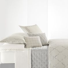 Vera Wang Fretwork Duvet Cover. #BeddingStyle #VeraWang #bedding #bedroom